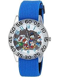 Disney Boy's 'Duck Tales' Quartz Plastic and Nylon Casual Watch, Color:Blue (Model: WDS000272)