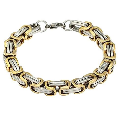 Contever® en acier inoxydable tressé Chain Bracelet Link Pour Hommes Couleur Argent et d