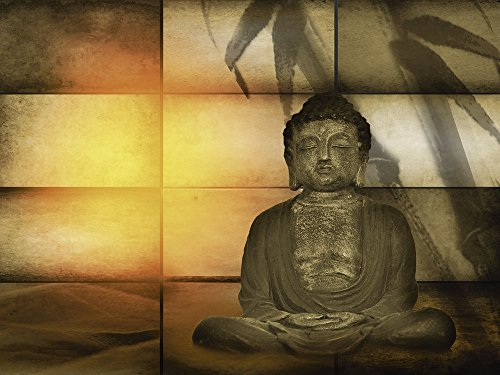Artland Qualitätsbilder I Wandtattoo Wandsticker Wandaufkleber 40 x 30 cm Fantasy Mythologie Religion Buddhismus Digitale Kunst Sepia C0VO Buddha 2