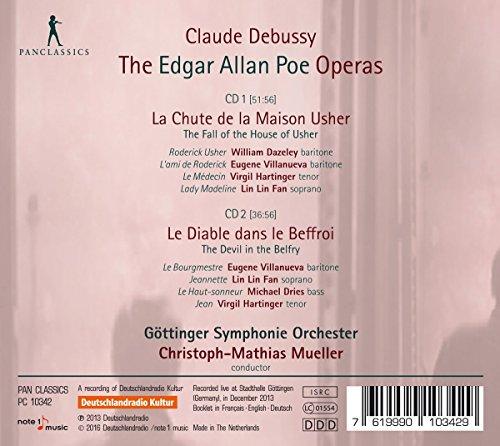 Les opéras d'Edgar Allan Poe complétés et orchestrés par Robert Orledge : La Chute de la Maison Usher - Le Diable dans le Beffroi