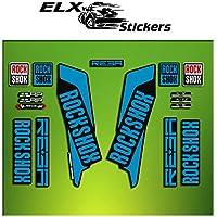 "Pegatinas HORQUILLA ROCK SHOX REBA 2016 ELX21 STICKERS AUFKLEBER AUTOCOLLANT ADESIVI BICICLETA CYCLE MTB BIKE 29"" (AZUL/ BLUE)"