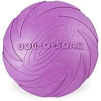 Adiestramiento de perros frisbee, caucho natural puro seguridad no tóxico interactivo los juguetes del animal doméstico.(15cm)
