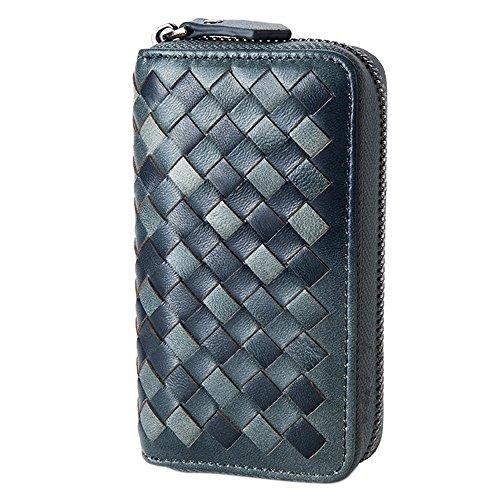 b021843d4 Esdrem artesanal de piel de cordero Key Case Holder Card Monedero con  llavero de coche Llavero