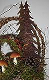 Rostikal | Edelrost Tannenbaum zum Stecken, Rostige Weihnachtsdeko | 25 cm hoch