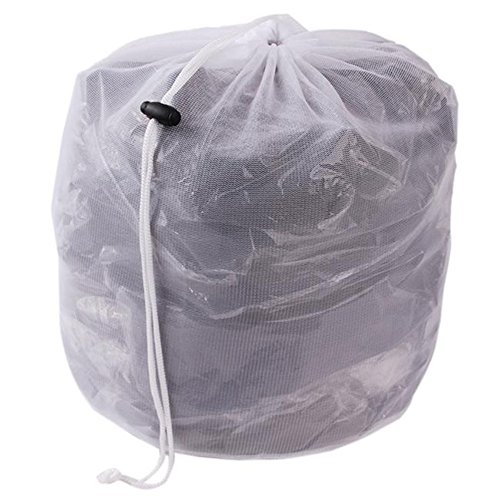 SYN Wäschesack aus Netzstoff, mit Kordelzug, Weiß, große Wäschesäcke für Waschmaschinen, Wie abgebildet, Style 2 - XL - Zustand Kordelzug