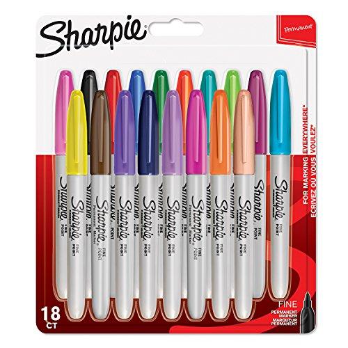 sharpie-pennarelli-indelebili-punta-fine-colori-assortiti-confezione-da-18