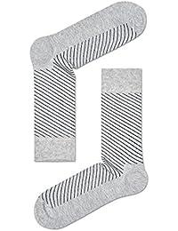 Happy Socks Diagonal Thin Stripe Men's Calf Socks Size 41-46 HS97
