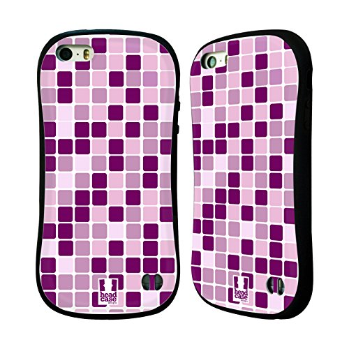 Head Case Designs Pink Mosaic Tiles Hybrid Case for Apple iPhone 5 / 5s / SE