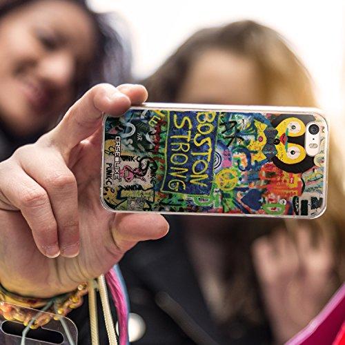 CASEiLIKE Roses et Plumes Beige Vintage 2251 Housse Étui UltraSlim Bumper et Back for Apple iPhone SE +Protecteur d'écran+Stylets cristal (couleur aléatoire) 2723