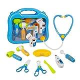 Dai amore! Godetevi il tempo con i giocattoli del medico! ❤ Dono bello per i bambini, godranno di giocare con la valigetta dottore e di avere ore di divertimento. ❤ Tutte le parti possono essere memorizzate in una casella carina e pratica. ❤ ...