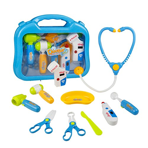 Maletín Médico Juguetes Kit Médico Doctora Juguetes Juego Médico de Rol Doctor Juguete Regalos para Niños Chicas Chicos 3 Años - Azul