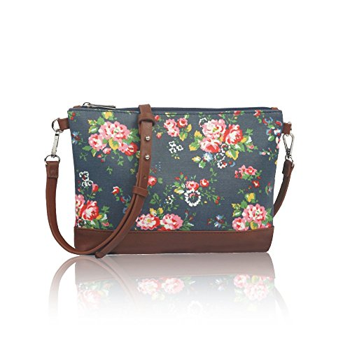 blue-sling-vintage-flowers-matte-oil-coated-canvas-cross-body-messenger-fashion-bag-handbag