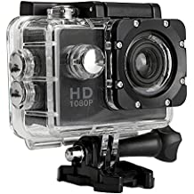 Sufeng Waterproof Full HD 1080P Sports Action Camera DVR Cam DV Video Camcorder (Black)