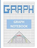 Graph Notebook: 8.5 x 11inch notebook of graph paper, ready for use. 100 double sided pages. Great for Math, school, college.