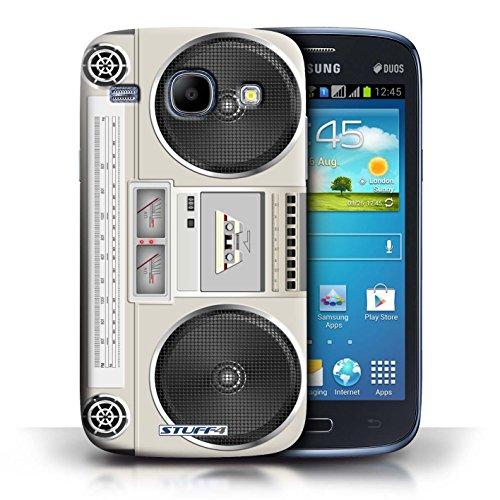 Kobalt® Imprimé Etui / Coque pour Samsung Galaxy Core / Compact Cassette Audio conception / Série Retro Tech Boombox