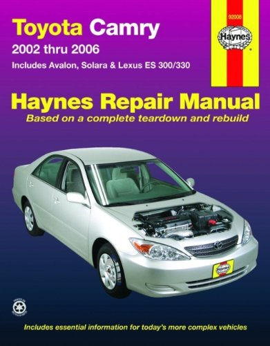 toyota-camry-2002-2006-repair-manual-includes-avalon-solara-lexus-es-300-330