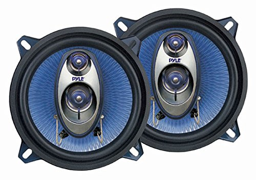 4) New Pyle PL53BL 13,3cm 400W 3-Wege-Auto Audio Triaxial Lautsprecher Stereo Zwei Paare