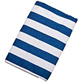 Michael Heinen Exklusives XXL Strandhandtuch   Premiumqualität   Badehandtuch   Strandlaken   Stranddecke   Größe 175cm x 100cm   Gestreift   (Blau)