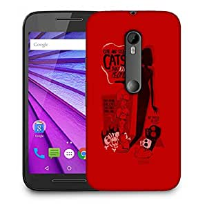 Snoogg Cute And Silly Cats Designer Protective Back Case Cover For MOTOROLA G3