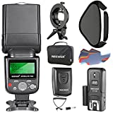 Neewer 750II TTL Flash Speedlite Kit for Nikon DSLR Cameras, Includes Flash Light