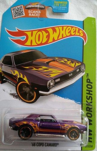 Hot Wheels, 2015 Hw Workshop, 68 Copo Camaro [Purple] Die Cast Vehicle #211/250