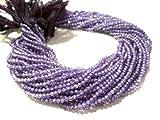 Mughal Gems & Jewellery AAA Qualität Strang lila Farbe Zirkon Rondelle facettiert 3-3,5 mm Edelstein Perlen 13