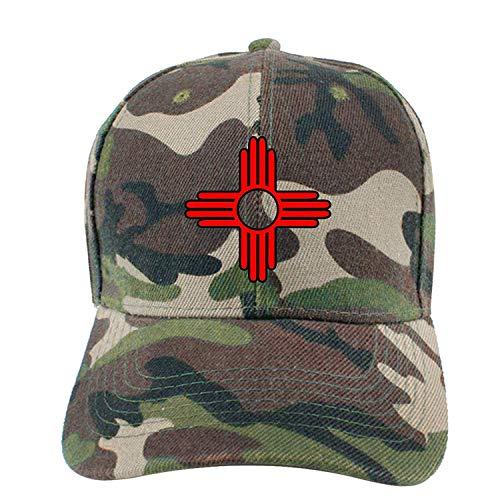 Preisvergleich Produktbild Aeykis New Mexico Sun Zia Unisex Adjustable Flat Brim Baseball Cap Hip Hop Hat ABCDE11734