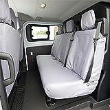UK Custom Covers - Fundas para asientos traseros para Ford Transit Tourneo a partir de 2013, color gris