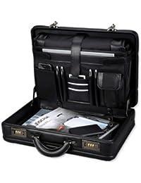 ALASSIO Attaché-case MODICA Simili-cuir / Nylon Compart. pour portable Noir