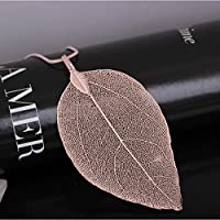 CanViUK Fashion Leaf Women Sweater Chain Necklace Retro Long Pendant Jewellery Gift Pendant Clothing Accessories,Rose gold