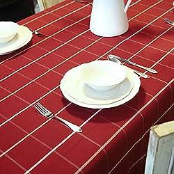 Mantel rectangular clásico de la tela escocesa por Mesa de comedor
