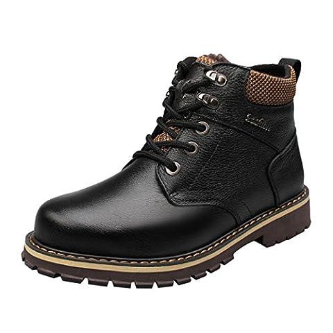WALK-LEADER, Chaussures montantes pour Homme - noir - noir, (Scarpe Snakeskin Mens)