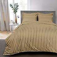 Kingtex 5-Pieces Comforter Set Cotton Brown King