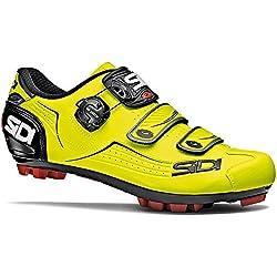 SIDI - Zapatillas de Ciclismo de Piel para Hombre Amarillo Amarillo Amarillo Size: 39