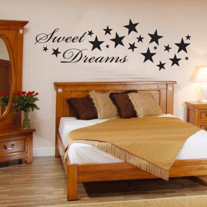 Indigos Wandtattoo w187 Sweet Dreams Spruch Wandaufkleber
