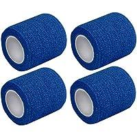 4 St. Kohäsive Pflaster selbstklebend Fixierbinden 5 cm x 4 m verschiedene Farben von Medi-Inn (Blau) preisvergleich bei billige-tabletten.eu