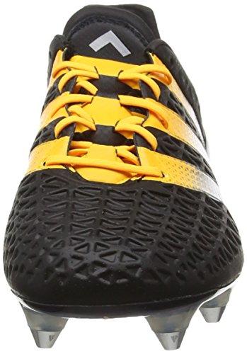 adidas Ace 16.1 Sg, Scarpe da Calcio Uomo Nero (Core Black/Silver Met./Solar Gold)