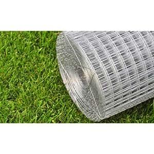 Grillage à mailles 25 mm rectangles soudé en acier galvanisé protection jardin, massif protéger fleurs et plantes, végétation - Resistant aux intemperies