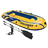 Intex Challenger 3 Boat Set - three man inflatable dinghy with oars and pump #68370