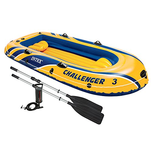 Intex Challenger 3 - Set de barco hinchable y remos...