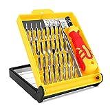 Schraubendreher Set 32 teilig - Handy Werkzeug Akkuwechsel / Reparatur (Smartphone, Tablet oder Notebook) Torx, Schraubenzieher Kreuz Stern Dreieck
