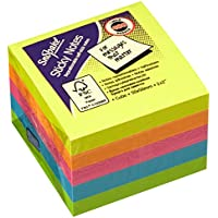 Snopake 51mm x 51mm Cube Sticky Note - Neon/ Assorted (Pack of 24)