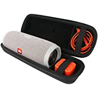 para JBL Charge 3 Waterproof Portable Wireless Bluetooth Altavoz. Extra Room For Charger and USB Cable Viajar Difícil Caso Bolso por VIVENS