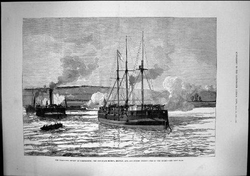 Freiwillige Zusammenfassungs-Portsmouth-Gewehr-Boote Feuern Feind Medina 1882
