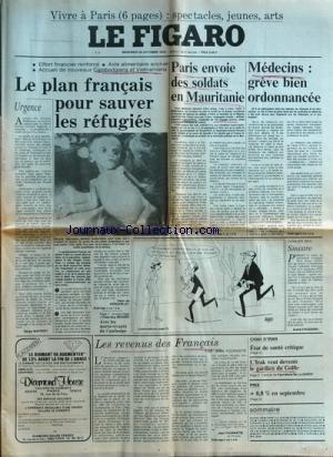 FIGARO (LE) du 24-10-1979 vivre a paris - 6 pages le plan francais pour sauver les refugies - cambodge et vietnam par de kergorlay - avec les morts-vivants du cambodge par berges urgence par maffert les revenus des francais par fourastie chah d'iran , etat de sante critique l'irak veut devenir le gardien du golfe par de la gorce - sinistre par frossard medecins , greve bien ordonnancee paris envoie des soldats en mauritani