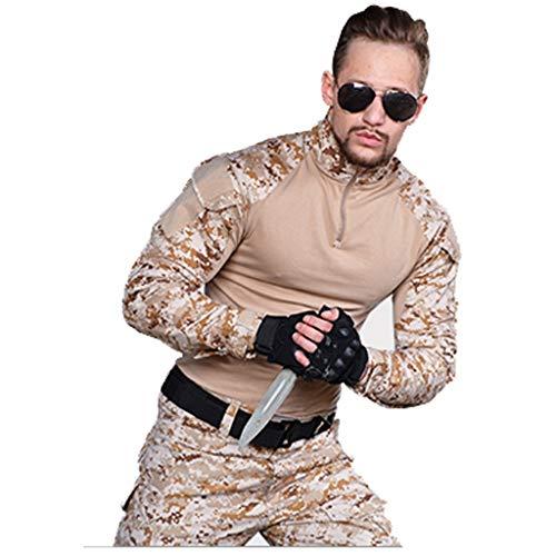 XXHDYR Camouflage Herren Trainingsbekleidung Sportswear Slim Fit Jacke Camouflage Pants Special Frog Costume Tarnen (Size : S) -