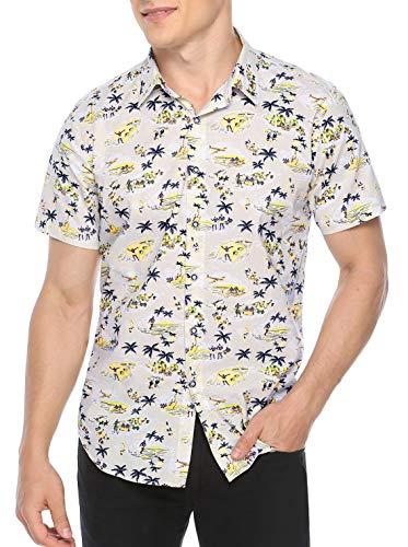 Sykooria Jugendliche Boy Shirt Druck Schnell Trocken Leicht Button Down Cool Designed Hiking Wear Herren Hemd - Shirts Kurzarm Seide Herren