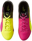 Puma evoSPEED 5.5 Tricks AG Jr, Unisex-Kinder Fußballschuhe, Pink (pink glo-safety yellow-black 01), 33 EU (1 Kinder UK) -