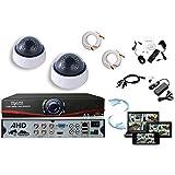 Kit videosurveillance AHD DVR 4 sorties + 2 Cameras domes DZ-450 + 2x 20m cable BNC + 1 adaptateur 4en1 + 1 alimentation 5A