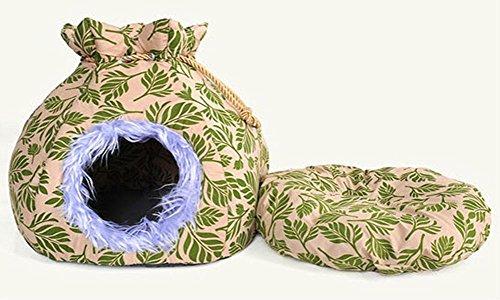 Natale Candy Modeling dell'animale domestico del gatto della gabbia della fossa di scolo calda della tenda morbida gattino piccolo cane cucciolo Casa 2 colori , green
